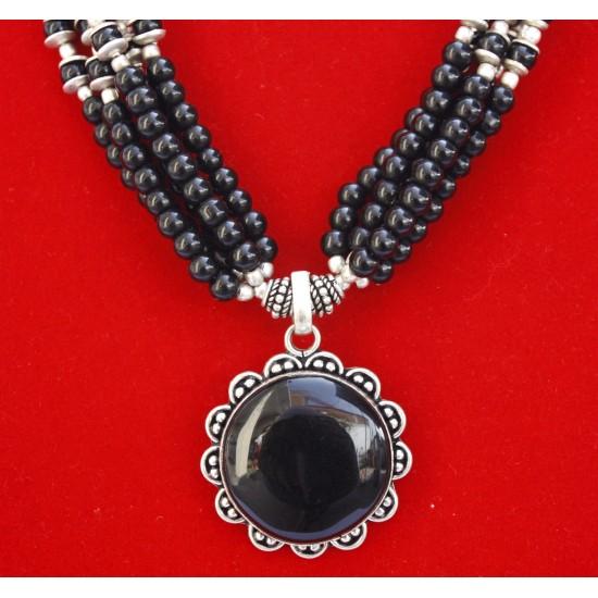 Black Gemstone Necklace