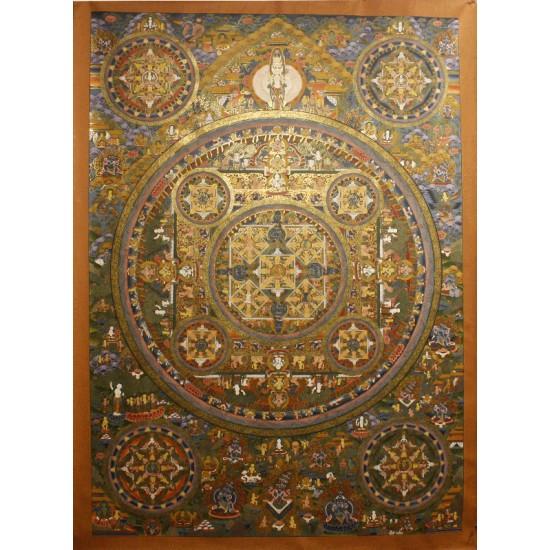 """Mandala Tibetan Thangka Painting  39""""W x 54""""H"""