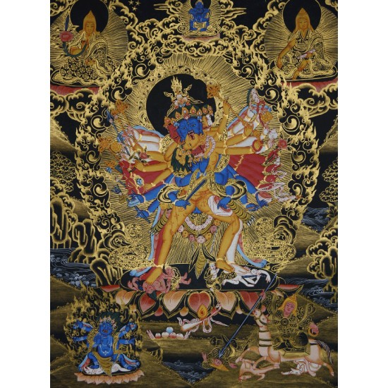 """Kaalchakra Tibetan Thangka Painting 20""""W x 26""""H"""