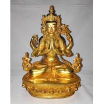 "Khacheri Full Gold Statue 7"" W x 9"" H x 5"" D"