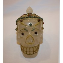 "Crystal Filigree Work Skull 4"" W x 4"" H"