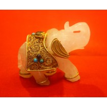 Small Crystal Decorative Table Elephant