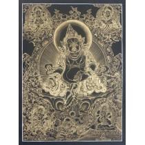 """Kuber Tibetan Thangka Painting 24.5"""" W x 32.5"""" H"""