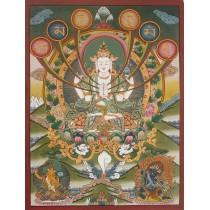 "Khacheri Tibetan Thangka Painting 20"" W x 27"" H"