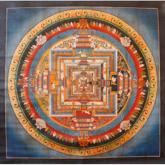 """Kaalchakra Tibetan Thangka Painting 31"""" W x 31"""" H"""
