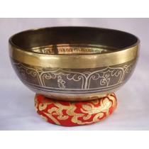 "Maitreya Buddha Tibetan Singing Bowl 8.5"" W x 3.5"" H"