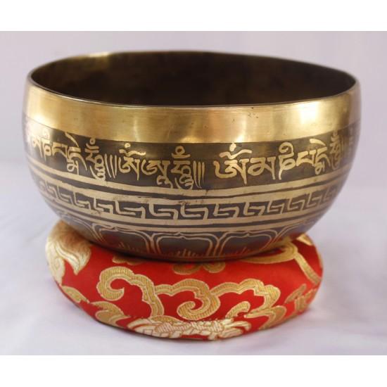 """Mantra Tibetan Singing Bowl 6.5"""" W x 3"""" H"""