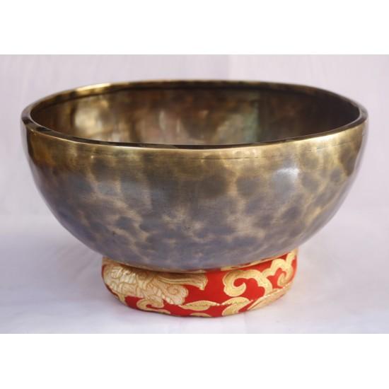 """Shiva Linga Full Moon Tibetan Singing Bowl 9"""" W x 4"""" H"""