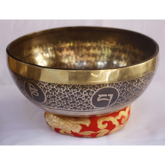 "Flower Of Love Tibetan Singing Bowl 9"" W x 3.5"" H"