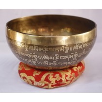 "Buddha Eye Mantra Tibetan Singing Bowl 7"" W x 3.5"" H"