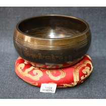 "Antique Mantra Tibetan Singing Bowl 4"" W x 2"" H"