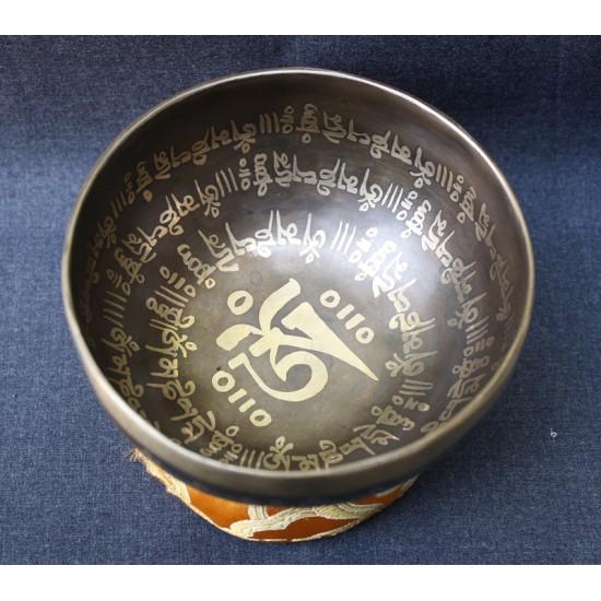 """Tibetan Mantra Singing Bowl 5"""" W x 2.5"""" H"""
