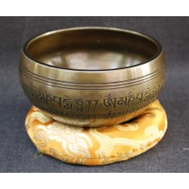 "Endless Knot Tibetan Antique Singing Bowl 4.5"" W x 2.5"" H"