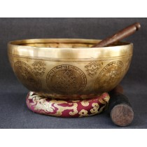 "Green Tara Tibetan Singing Bowl 9.5"" W x 4"" H"