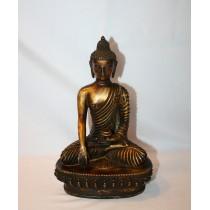 "Old Antique Shakyamuni Statue 5.5"" W x 8"" H"