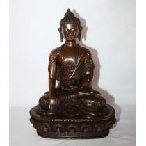 """Medicine Buddha Copper Oxydige Antique Design Statue 6"""" W x 8.5"""" H"""