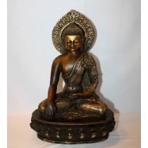 """Shakyamuni Buddha Antique Statue 8"""" W x 12"""" H"""