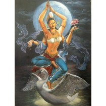 Goddess Saraswati 69 x 48 cm