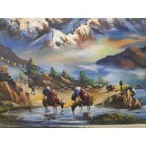 Amber Flower Vase Turquoise And Coral