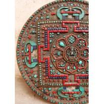 Tibetan Table Prayer Wheel