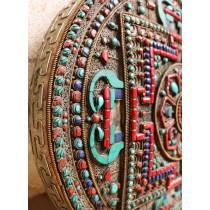 Standing Tibetan Table Prayer Wheel
