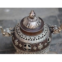 "Tibetan Table Prayer Wheel 4.5"" H"