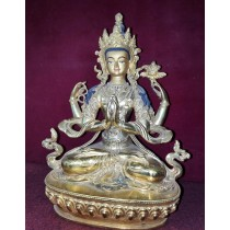 "Buddha Eye Mantra Mandala Thangka Painting 23"" W x 30"" H"