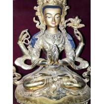 "Khacheri Tibetan Thangka Painting 28"" W x 38.5"" H"