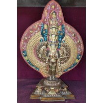 """Mt. Everest and Ama Dablam Acrylic Painting 36"""" W x 18"""" H"""