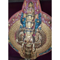 """Mount Annapurna And Macchapuchre Acrylic Painting 36"""" W x 18"""" H"""