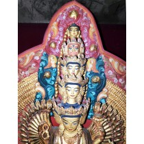 "Mount Everest Acrylic Painting 36"" W x 18"" H"