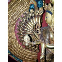 "Mount Annapurna And Macchapuchre Acrylic Painting 33"" W x 22"" H"
